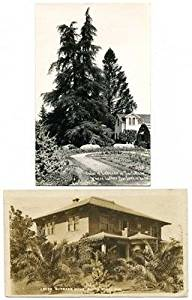 Lot of 2 Luther Burbank Home in Santa Rosa, CA Real Photo Postcards #14273
