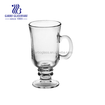 wholesale FDA passed food safe irish coffee glass mug , 250ml irish coffee glass mugs bluk coffee mugs