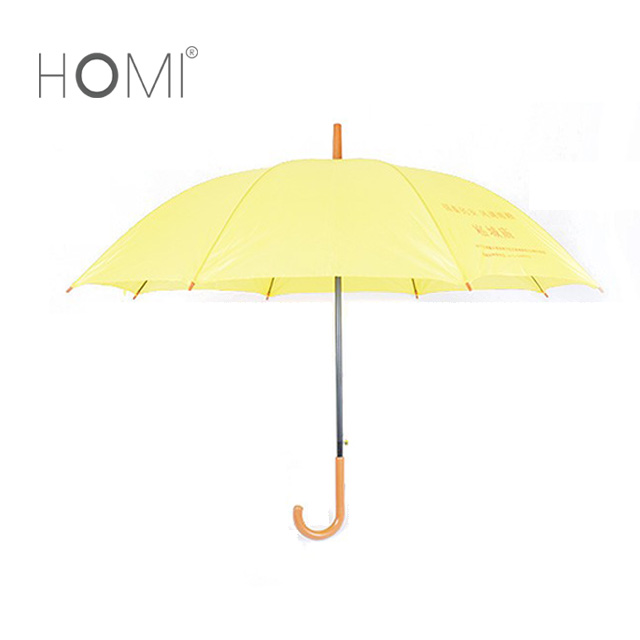 Logo Printing Wooden Handle Straight Advertising Promotional Umbrella