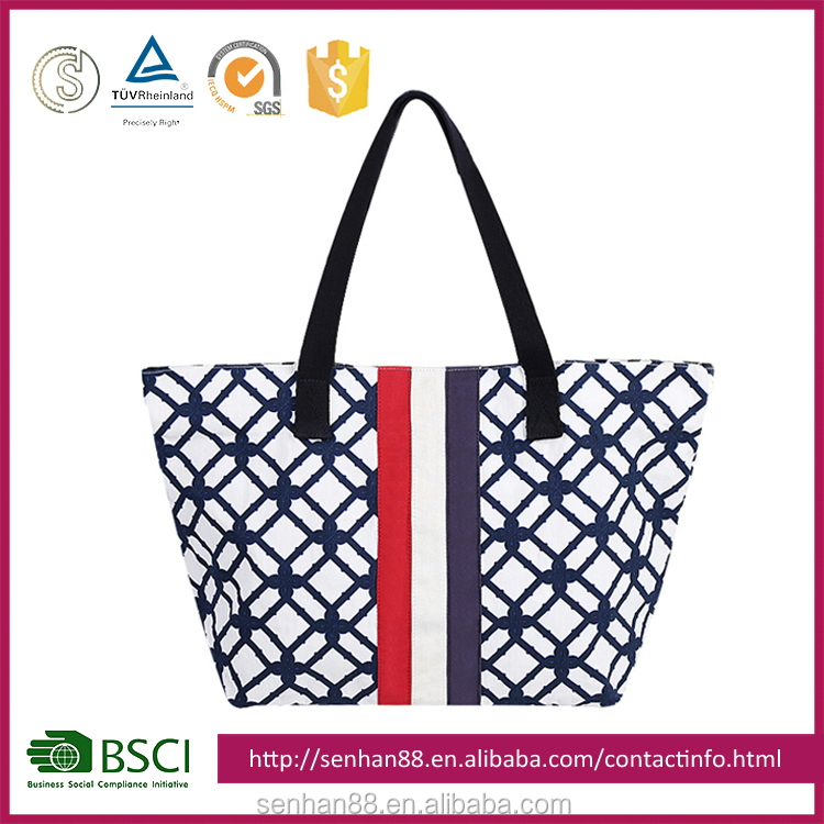 Fashion OEM natural shopping canvas tote bag
