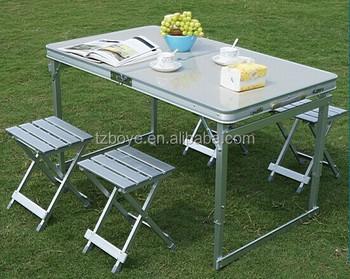Grand canyon alu table set set tavolo valigia pieghevole in