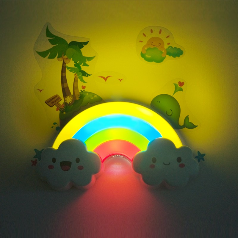 Cute Rainbow Clouds Light For Child LED Rainbow Light Projector Romantic  Projection Lamp Night Light Atmosphere