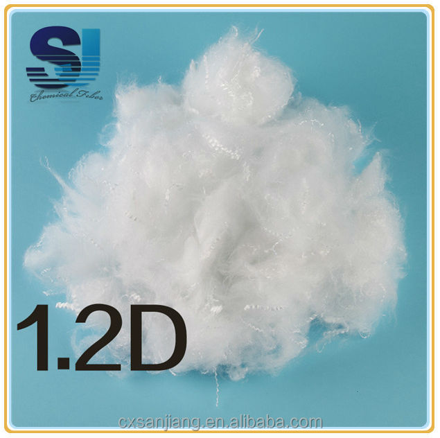 Highly elastic polyester fiber textile recycling for 1.2D to 15D