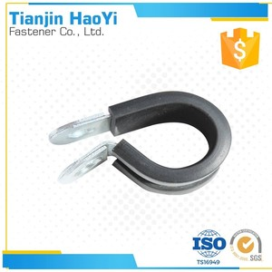 Cable Clamp auto plastic wire clip electric cable clamps Pipe Clamp with Two Holes