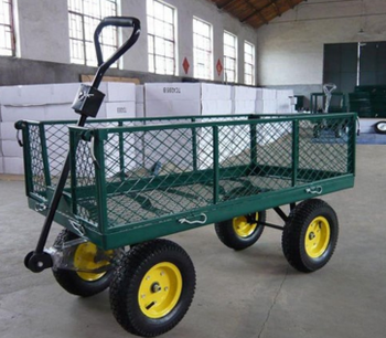 New Design Four Wheel Foldable Garden Tool Cart Buy