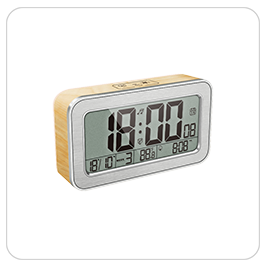 Simple setting flip alarm clock digital night light clock LCD screen desk table clock
