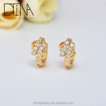flower jewelry hollow fashion product wedding gold yellow elegant beautiful earrings tree leaf life women