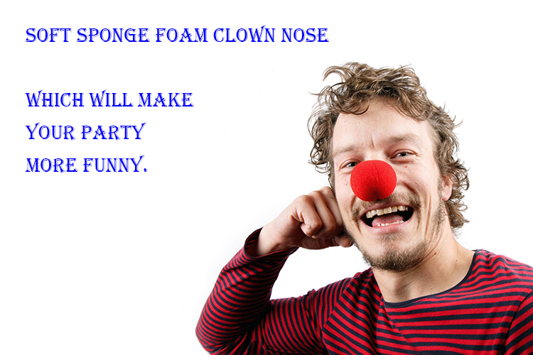 China Manufacturer Kids Toy Party Favor Red Sponge Ball Campaign Clown Foam Nose