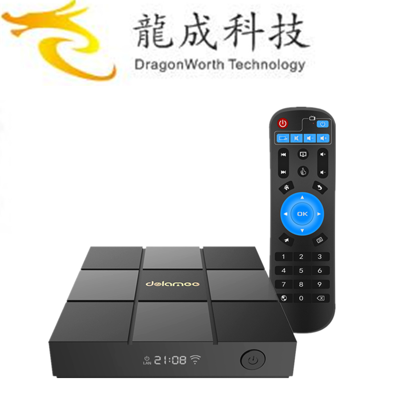New product 2018 DOLAMEE D6 S905X 1G 8G tiger t800 full hd satellite receiver for wholesales ott 6.0tv box
