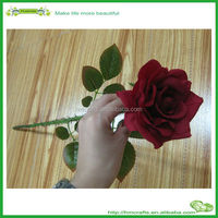 2015 Fashion beautiful high hand-feeling artificial flower rose factory