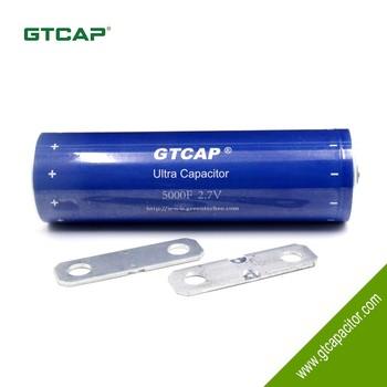 Gtcap Hot Sale Solar Super Capacitor 5000f 2 7v With Low Leakage Current -  Buy Solar Super Capacitor 5000f 2 7v,5000f Super Capacitor,Capacitor 2 7