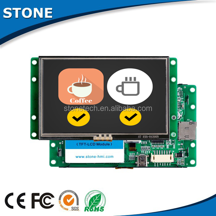 7 inch 800X480 cutting-edge technology TFT LCD touch screen auto electronics