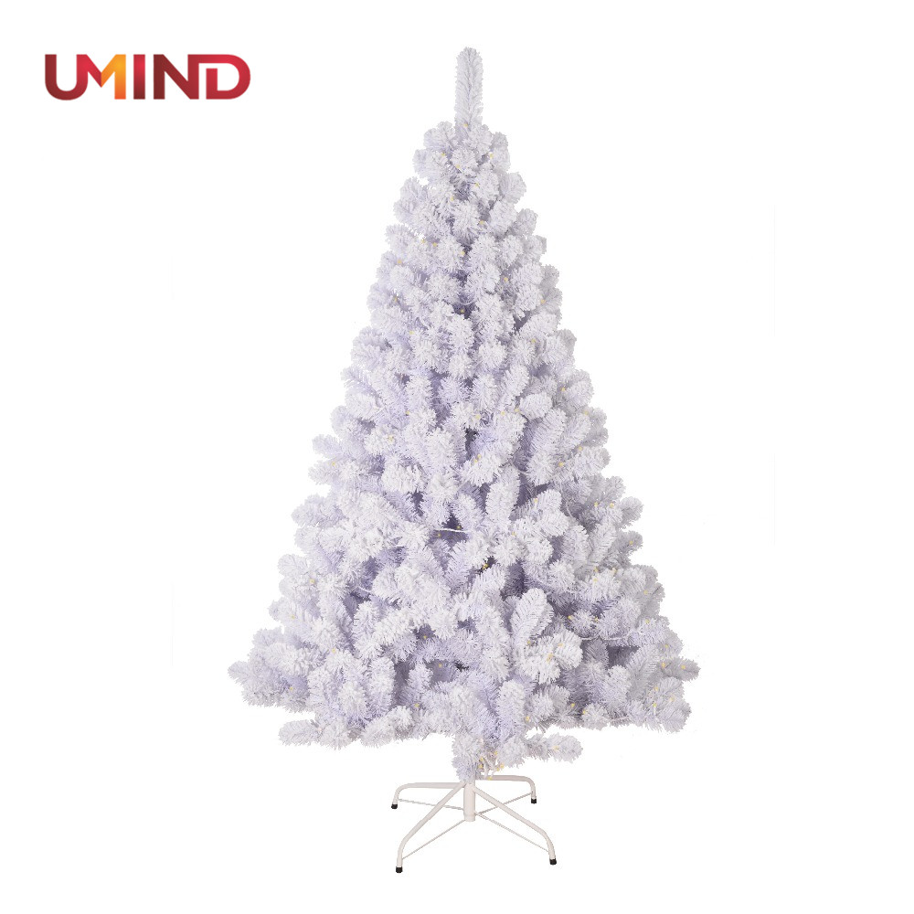 White pre lit snow christmas tree artificial christmas tree for festival