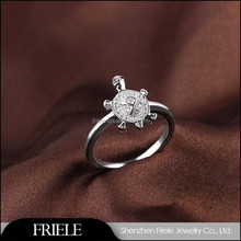 Wholesale Silver Turtle Jewelry Long Life Animal Finger Ring