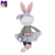 Custom rag doll ballerina plush cute story book rabbit doll