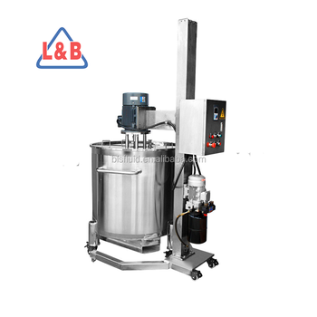 Industrial High Shear Homogenizer with hydraulic stand and kettle 300L