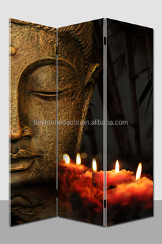 Hot Selling Light Up Wall Art Buddha Canvas Room Divider Buy