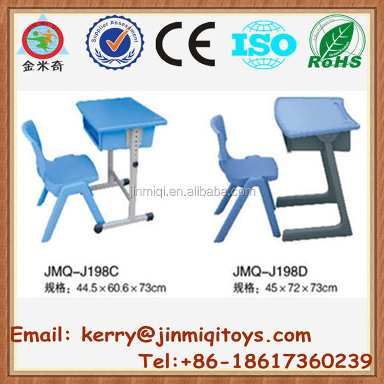 Hot sale professional children's desks, study table and chair set, drawing school school desks JMQ-J198C