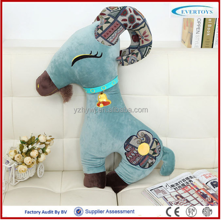 hot sale soft stuffed and plush goat fur toys