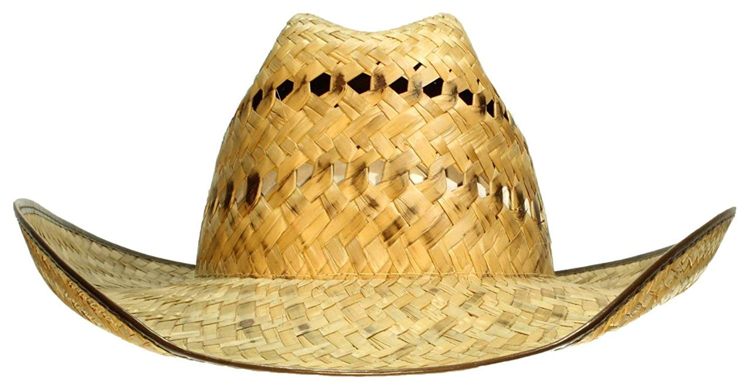 410b3e2c98294 Get Quotations · Tropic Hats Big Kids Cowboy Cowgirl Cap W Brown Lined Brim    Elastic Band