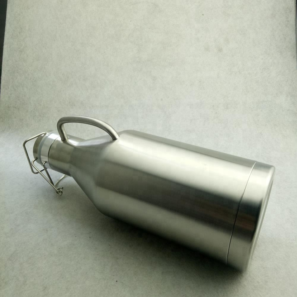 64oz  stainless steel customized beer growler with handle