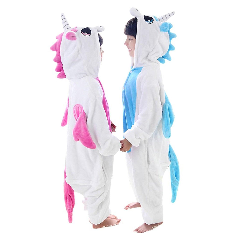 Duraplast Kids Unicorn Animal Costume Flannel Hoodie Pyjamas Onesie Jumpsuit  Wear a1fa3ff1c