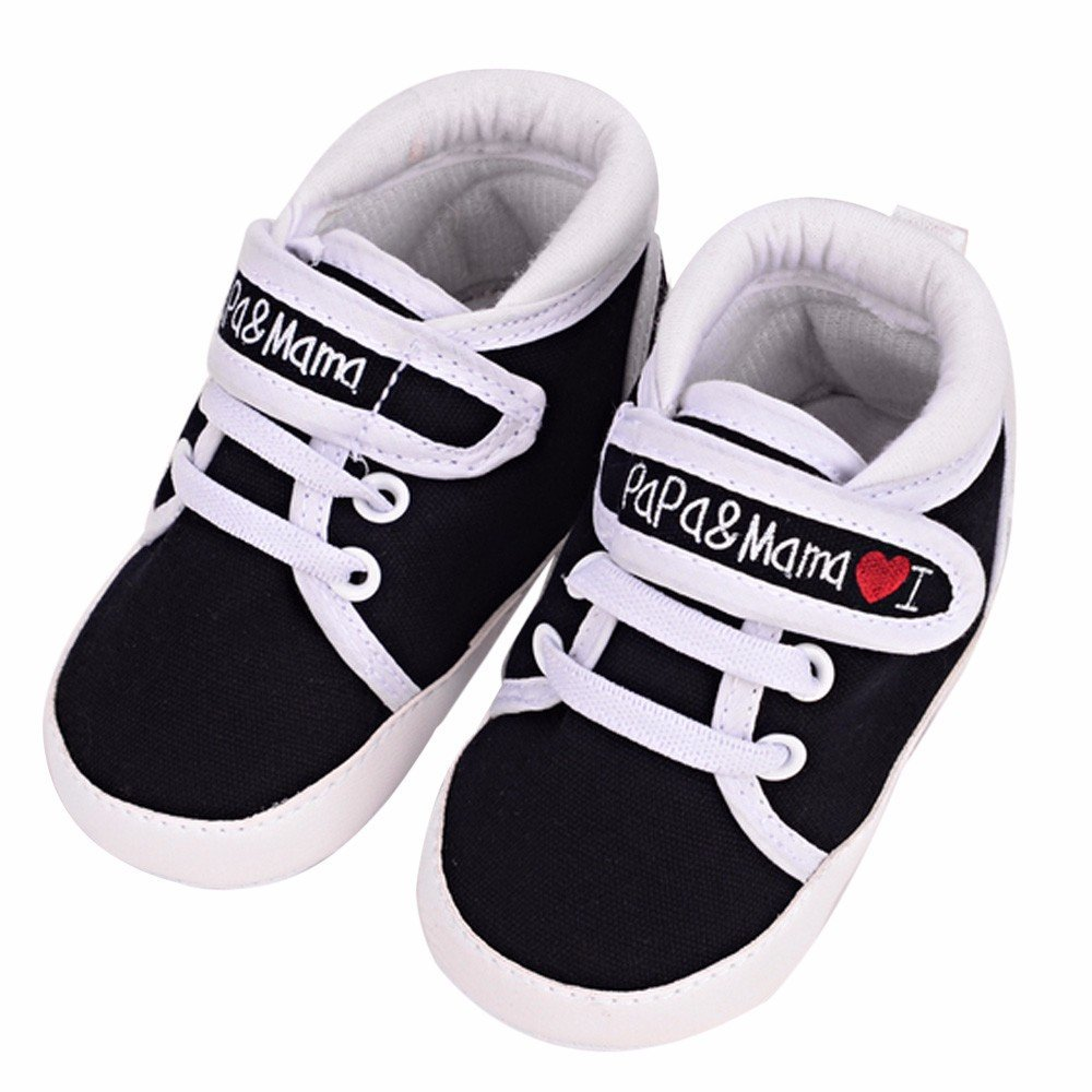 Generic Baby Infant Kids Soft Sole Canvas Sneaker Toddler Shoes Fashion Prewalker