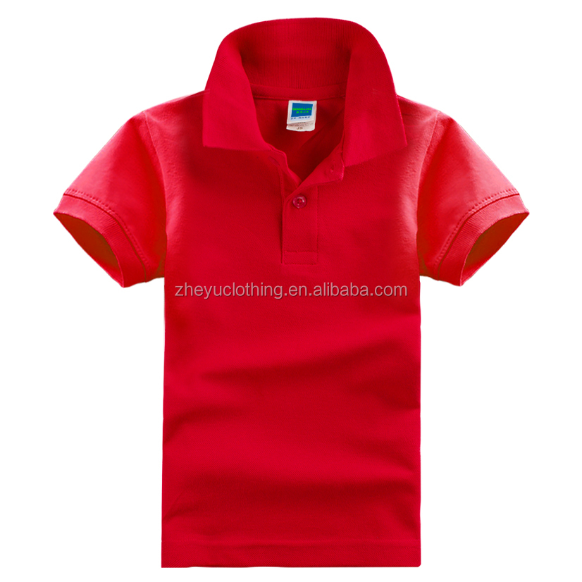 Pique kid polo shirt Green poly cotton polo shirt anti-pilling polo