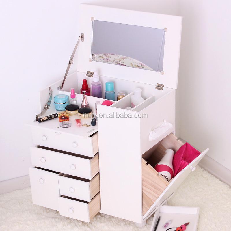 venta caliente tocador muebles de madera del caso del maquillaje con