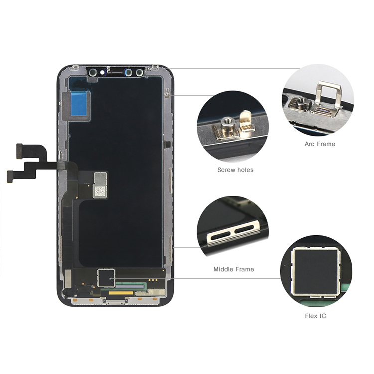 Longteng Display for iphone x lcd digitizer screen For iphone lcd ,for iphonex tianma lcd