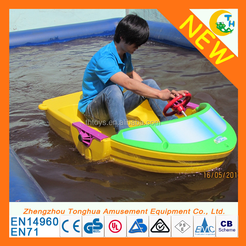 Funny water park games electric paddle boat for sale