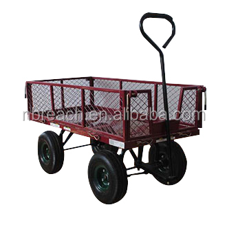 Heavy Duty Foldable GardenTool Carts with Four Wheels