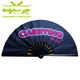 33 CM 13inch chinese customised polished bamboo polyester 210d fabric tai chi kung fu hand folding fan with any design printing