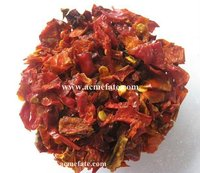 Dehydrated pepper dried red bell pepper