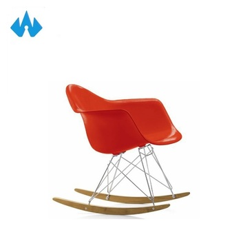 Modern Red Cane Rocking Plastic Chair For Garden Used