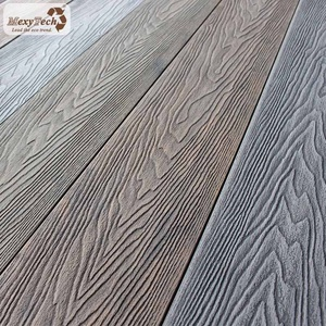 MexyTech 3d wood grain wpc outdoor laminate antiseptic deck flooring