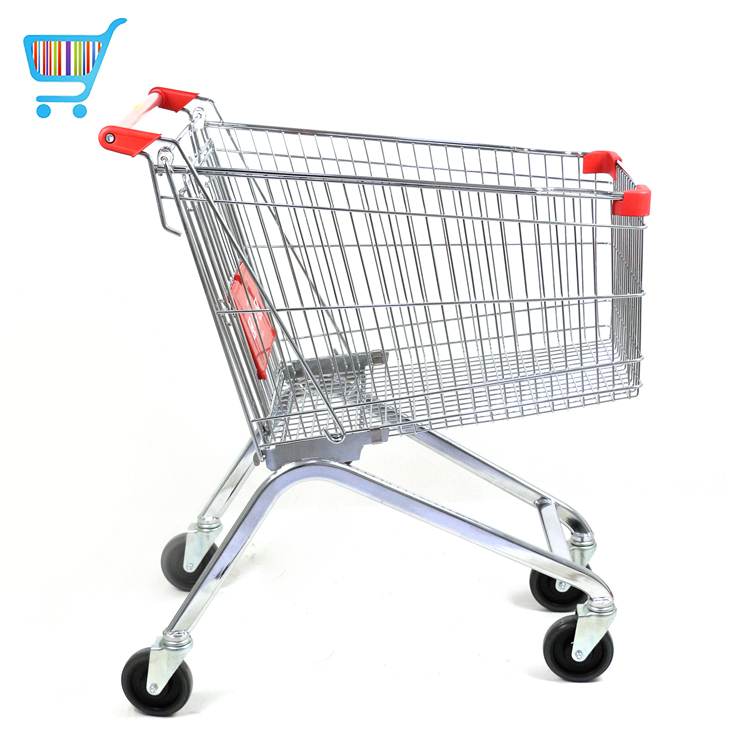 180l european shopping trolley retail and services easy wheels super shopping cart euro coins style unlock supermarket trolley