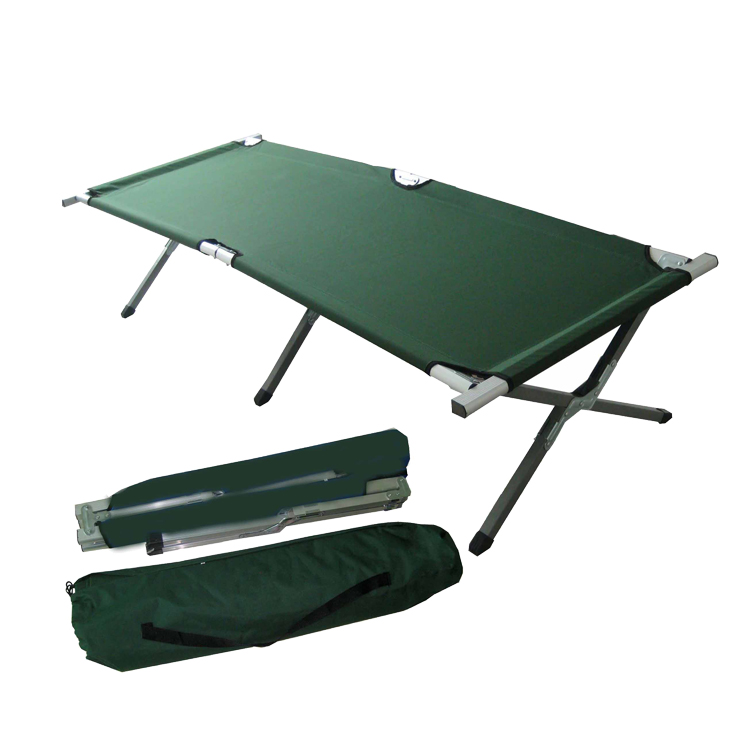 Fold-able easy carrying aluminum and metal folding bed stretcher military bed army cot folding camping bed фото