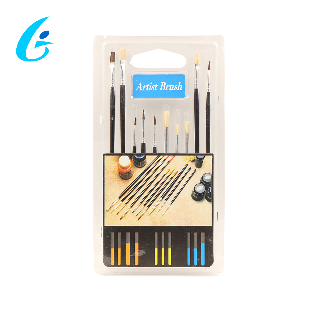 CE Certificated Various Types High Quality 6pcs Fan Paint Brush