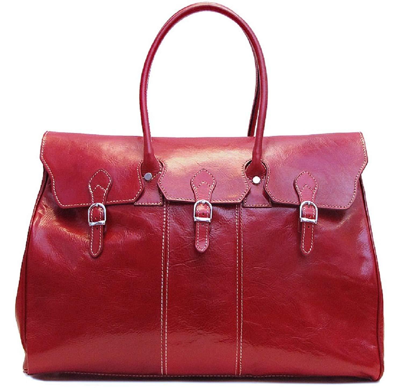Floto Lugano Leather Duffel Bag