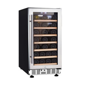 fashionable seamless SS door 33 bottles wine cabinet with 80L capacity USF-33S