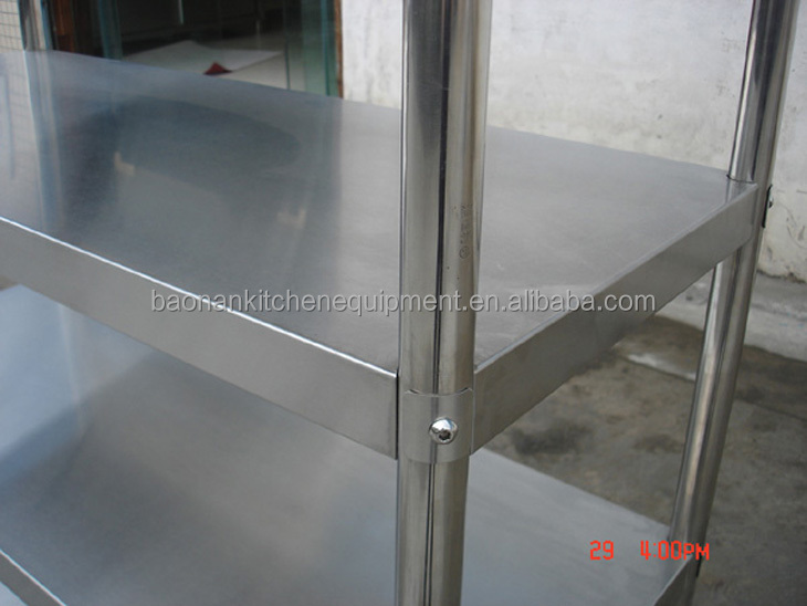 Restaurant Kitchen Metal Shelves knock-down stainless steel restaurant kitchen shelving rack 4