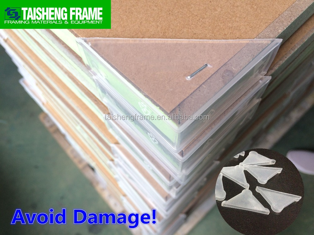 TSF42 picture frame moulings plastic corner protector 62mm will not be broken make good photo frame factory selling customize