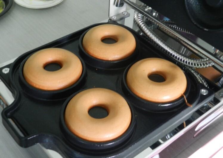 4pieces Electric Donut Machine 4 Donut Making Machine Donut Grilling Panini Press Plates