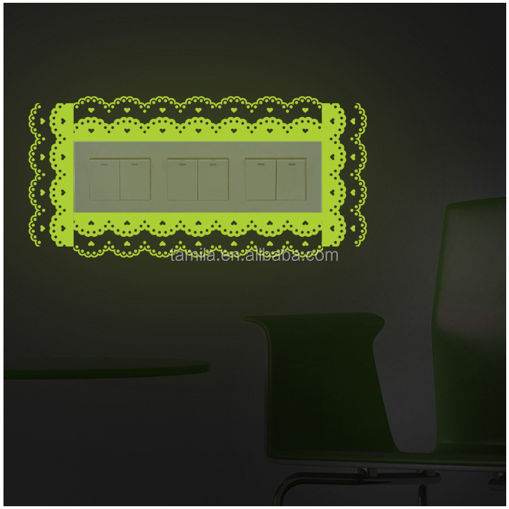 3D night glow luminous fluorescent wall light switch glowing stickers