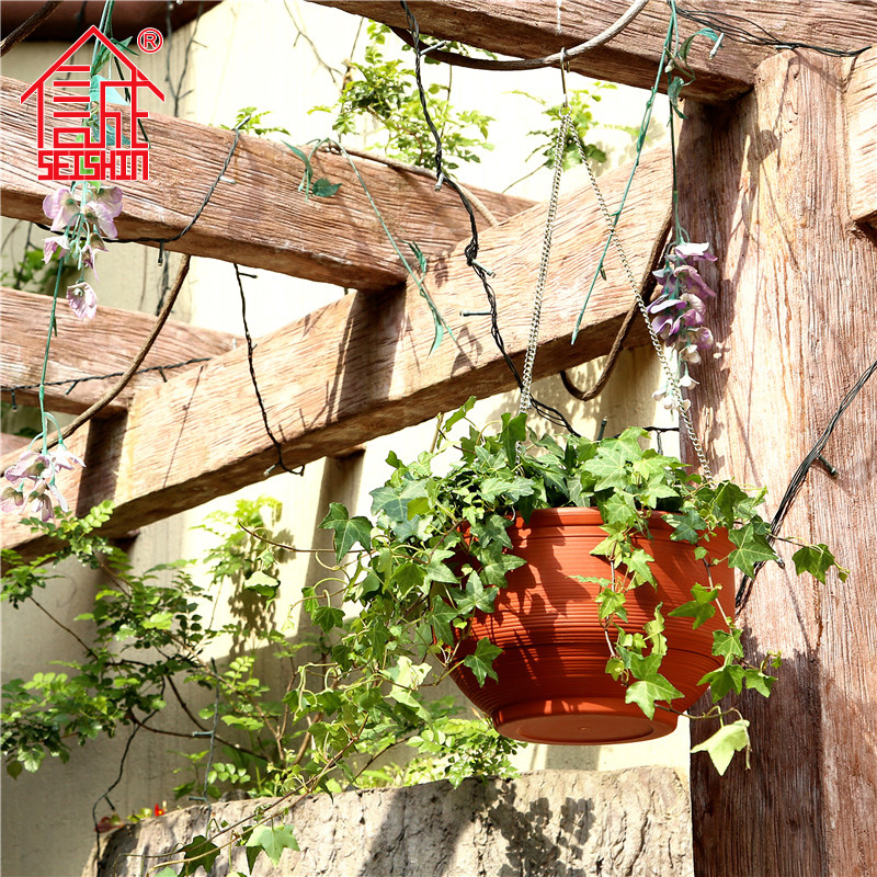 New Product Garden Decorative Small Hanging Plastic Flower Pots
