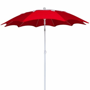 for sales market beach umbrella promotion custom red chinese beach umbrella