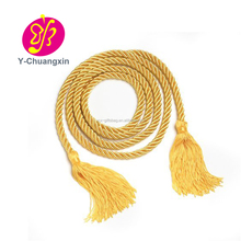 Factory price free sample fringe tieback long decorative gold curtain tassel
