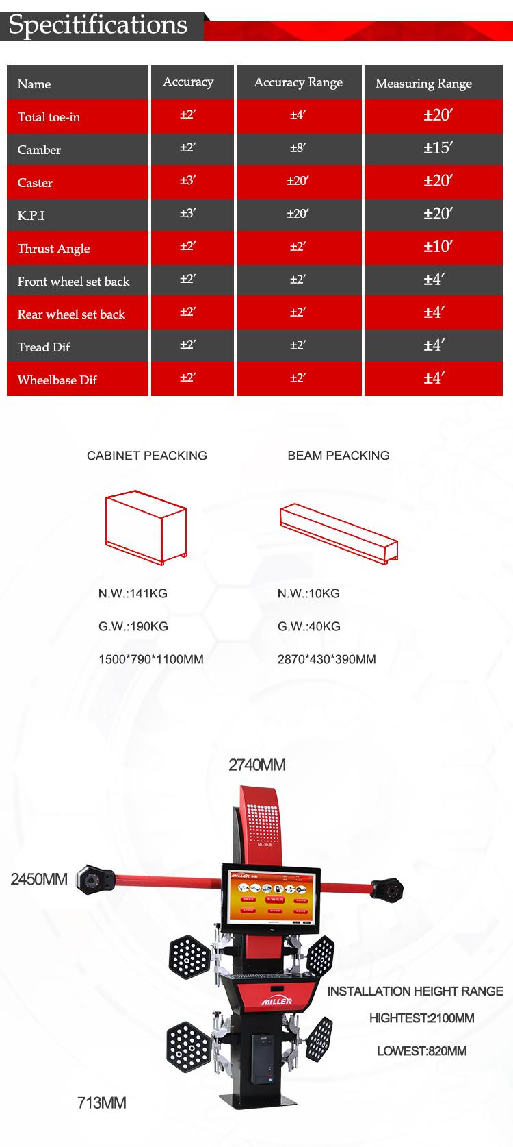 3d alinhamento das rodas 4 equipamento da garagem para venda