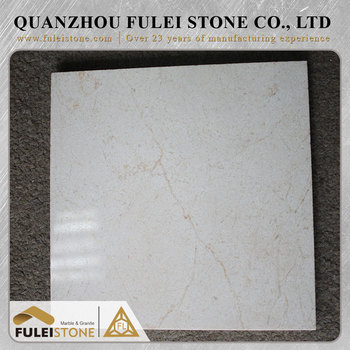 Custom high quality floor design natural cream marfil marble